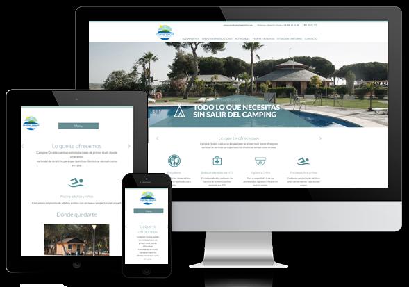 diseño web y desarrollo web para camping giralda